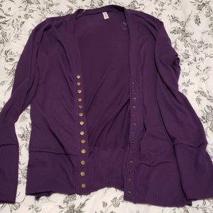 Zenana outfitters snap button cardigan xl